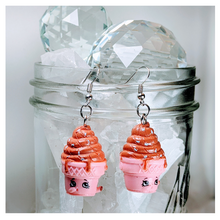 Load image into Gallery viewer, I Scream Earrings | Strawbphiazbling