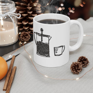 Routine Mug 11oz | Art by Green Camel Press