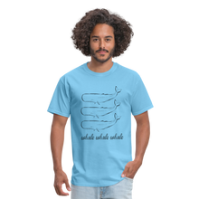Load image into Gallery viewer, Whale Whale Whale Unisex Classic T-Shirt - aquatic blue
