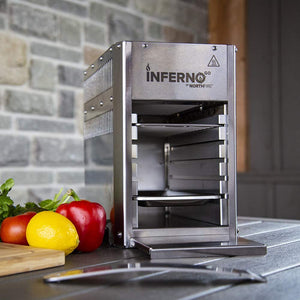 Northfire Propane Infrared Grill-Single, InfernoGo, Silver
