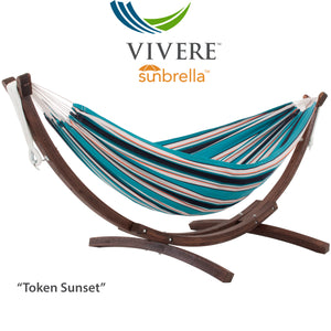 Double Sunbrella®  Hammock with Solid Pine Stand