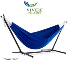 Load image into Gallery viewer, 9ft Polyester Hammock with Stand