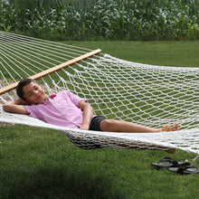 Load image into Gallery viewer, Double Natural Cotton Rope Hammock