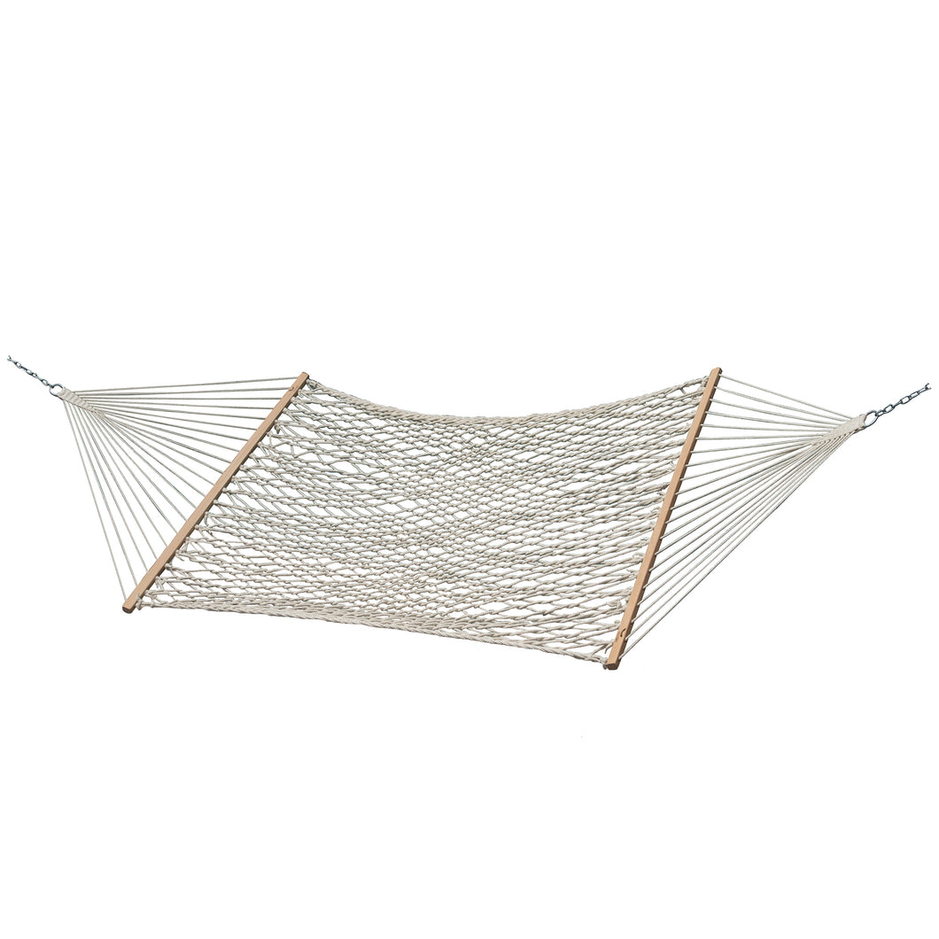 Double Natural Cotton Rope Hammock