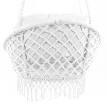 Load image into Gallery viewer, Deluxe Polyester Macrame Chair With Fringe