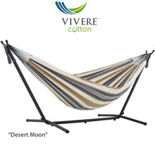 Load image into Gallery viewer, Double Cotton Hammock with Stand Combo (9ft/280cm)