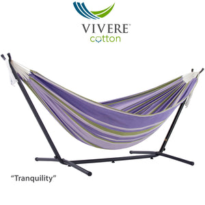 Double Cotton Hammock with Stand Combo (9ft/280cm)