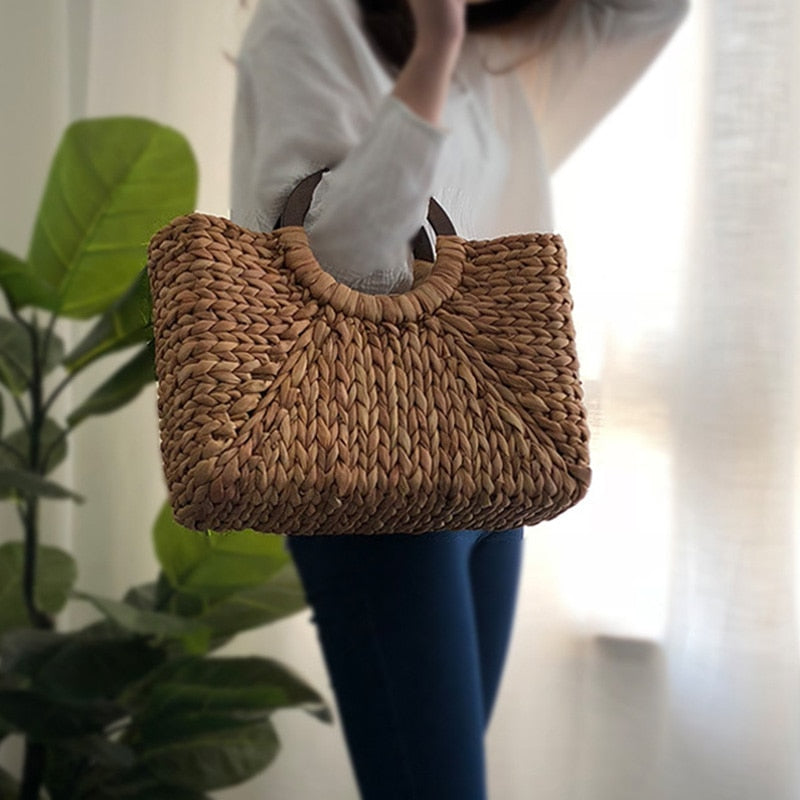 Sláma Large Woven Tote