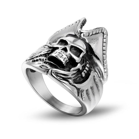 Totenkopf Pirates Ring Mann