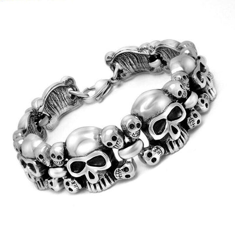 Totenkopf Armband Born to Ride