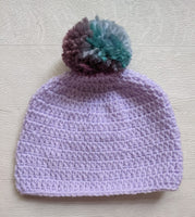 Hand Made Crochet Wool Baby Bobble Hat 3-6 Months