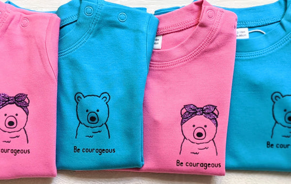 Brave Bear Bible Tee - 'Be Courageous' Ages 12-18 months - 5-6 years