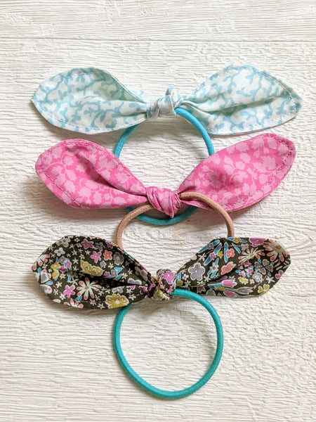 Set of 3, Handmade Liberty Fabric Hair Bow Ties