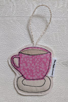 Ellen Hopkin Creates - Liberty Fabric Tea Cup Hanging Decoration