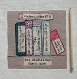 Personalised Book Shelf Fabric Art
