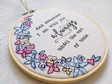 Faith In Fabric 'Always With You' 6 inch bible verse embroidery hoop
