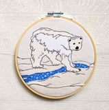 Original Hoop Art - Polar Bear
