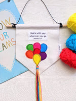 'God is with you' Mini Balloon Banner