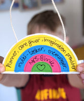 Personalised Rainbow Teacher Gifts Ellen Hopkin Creates