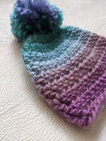 Hand Made Crochet Wool Baby Bobble Premie Size