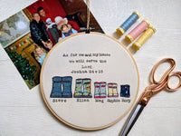 Personalised Family 8 Inch Welly Boot Embroidery Hoop Gift