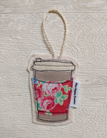 Ellen Hopkin Creates -Vintage Style Fabric Coffee Cup Hanging Decoratio