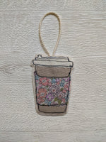 Ellen Hopkin Creates - Liberty Fabric Coffee Cup Hanging Decoration