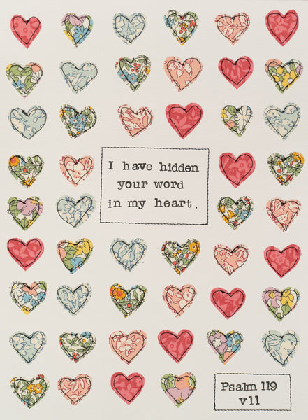 Hidden in My Heart - Psalm 119 v 11 PRINT