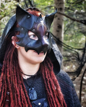 The Witch's Black Cat Mask