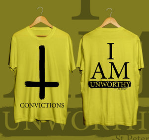 UNWORTHY (Black on Yellow)