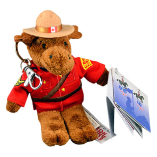 Mountie bears Cute Souvenir Plush Stuffed animal key chain. - Souvenir Du Quebec, Maple Syrup, Souvenirs, Montreal