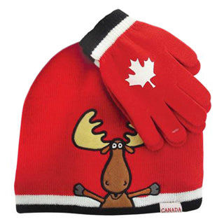 Canada Sport Warm Winter Hat Beanie and Gloves for kids - Souvenir Du Quebec, Maple Syrup, Souvenirs, Montreal