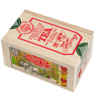 Wooden Box With  12 Maple Tea Bags - Souvenir Du Quebec, Maple Syrup, Souvenirs, Montreal