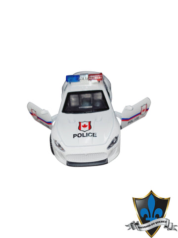 White Canada Police Car with Canada Flag