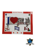 I love Montreal  Magnet with Montreal, Quebec, Canada flags - Souvenir Du Quebec