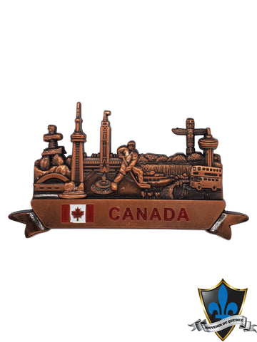 Canada magnet with all the Canadian sites. - Souvenir Du Quebec, Maple Syrup, Souvenirs, Montreal
