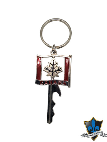 Montreal Key with Canadian maple leaf keychain. - Souvenir Du Quebec