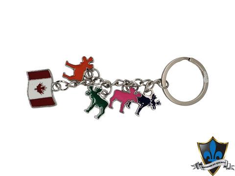 Canada  Key with Canadian moose