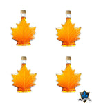 4 X 100Ml Canadian Maple syrup Maple Leaf Shaped Bottles - Souvenir Du Quebec, Maple Syrup, Souvenirs, Montreal