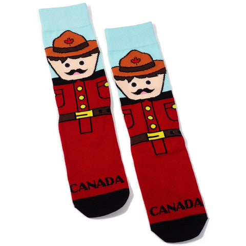 Kids RCMP socks by Main and Local - Souvenir Du Quebec