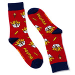 Quebec Poutine  socks by Main and Local