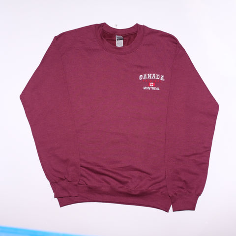 Maroon Embroidered Montreal Crewneck