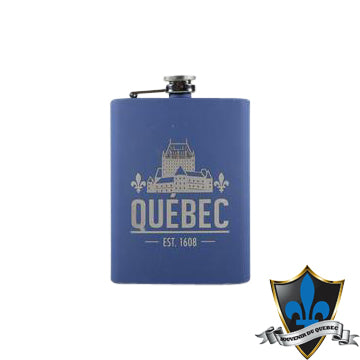 Stainless Steel  8 Oz   NAVY Quebec Flask