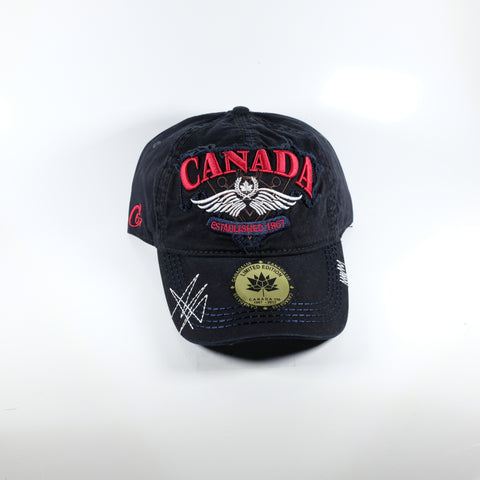 Black And Red Canada Cap