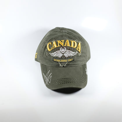 Green and Gold Canada Cap