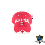 Red Maple Leaf Canada Baseball  Cap - Souvenir Du Quebec