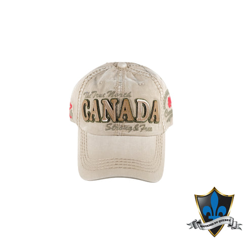 True North Strong and Free Hat - Souvenir Du Quebec