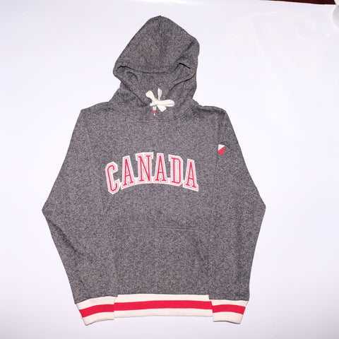 Heathered Grey Hoodie - Souvenir Du Quebec, Maple Syrup, Souvenirs, Montreal
