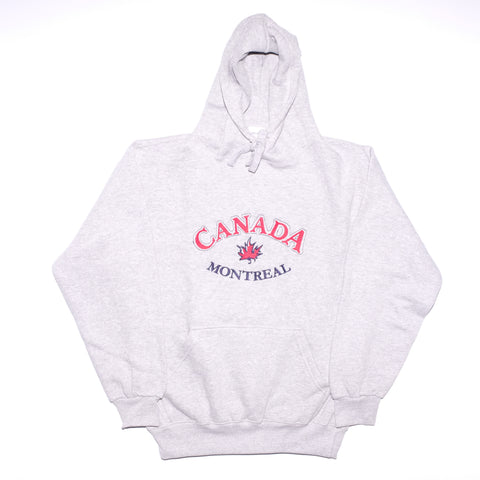 Grey Canada Embroidered Hoodie