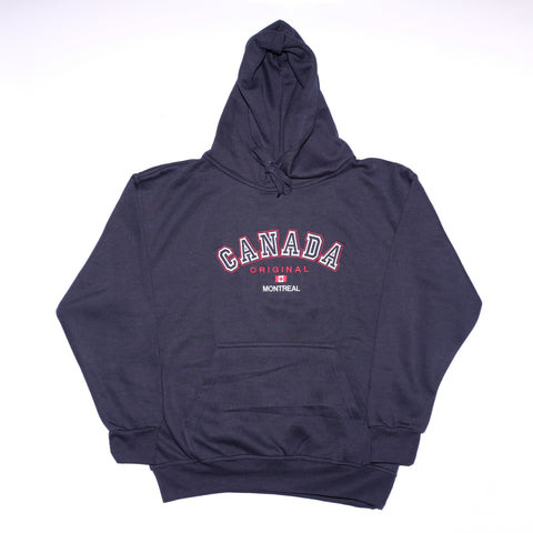 Navy Blue Canada Embroidered Hoodie